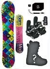 140 Modern Santa Monica Snowboard+Bindings+Boots+Stomp+Leash+burton djoy18 Packa