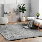 nuLOOM Contemporary Modern Simple Plush Shag Area Rug in Grey