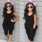 Внешний вид - Toddler Baby Kid Girls Summer Solid Jumpsuit Rompers Harem Pants Clothes Outfits