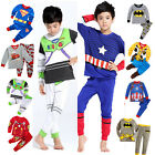 2PCS Kids Cartoon Spidehero Pajamas Boys Outfit Set Sleepwear Fancy Dresses