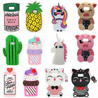 3D Cartoon Silicone Rubber Soft Case Cover For Samsung S7 S8 P LG ZTE Max Pro