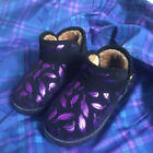 Promotion Girls Boys Winter Warm Boots Shiny Purple Leaves Ankle Boots Kid Shoes