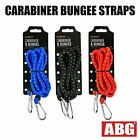 150cm Bungee Cord Heavy Duty Karabiner Luggage Straps Rope Stretch Tie Down Clip
