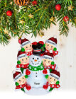 Personalized Christmas Tree Ornament Holiday Gift, Snowman for Family of 2-3-4-5
