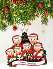 Personalized Christmas Tree Ornament Holiday Gift, Xmas Tree for Family of 2-3-4