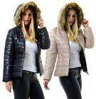 New Ladies Girls Puffer Padded Bubble Thick Warm Hooded Quilted Jacket Coat.