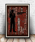 James Bond 1 to 12 :  Hit Film titles Spelled out in poster, Wall art. £3.99 GBP on eBay