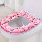 Toilet Seat Cushion Closestool Washable Soft Warmer Hooks Mat Cover Pad Bathroom