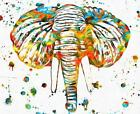 Elephant Head Paint/ best quality art Canvas Home decor wall arts printing