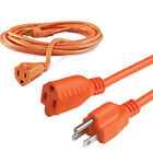 Kyпить Extension Cable Electrical Cord Indoor/Outdoor 5 6 8 10 15 20 25 50 75 100' FT на еВаy.соm