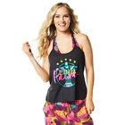 Authentic New Zumba Passion Loose Tank Top  ~ Back to Black  ~  size S  ~ NWT