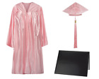 Pink Shiny Graduation Cap, Gown and Diploma Cover Set- Click for sizes