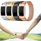 Gold Magnetic Loop Strap Stainless Steel Wrist Milanese Band for Fitbit Charge 2