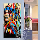 GUDI-Large Canvas Abstract Cow Hand-Painted Modern Oil Painting Home Decor Art