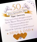 """Hand-made personalised """"Anniversary Poem' card"""