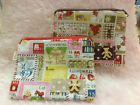 Canvas Colorful Stamp Pattern Cosmetic bag  Makeup bag Coin Bag