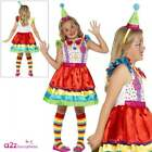 Girls Clown Child Circus Deluxe Spot Spotty Fancy Dress Costume + Hat Ages 4-12
