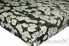 Daisies on Grass Green PVC Tablecloth Vinyl Oilcloth Kitchen Dining Table