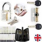 24PCS Unlocking Lock Opener Kit Practice Padlock Pick Torsion Tools Set + 4 Key