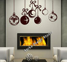 CHRISTMAS WINDOW DECORATION / XMAS BAUBLES STICKERS / CRISTMAS WALL STICKER SS26