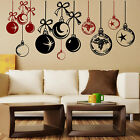 CHRISTMAS WINDOW DECORATION  XMAS Wall Stickers BAUBLES REMOVABLE STICKERS  NN88