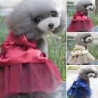 Beauty Pet Cute Skirt Puppy Dog Bow Crystal Tutu Dress Wedding Party Pet Apparel