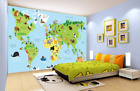 3D Animal World Map 73 Wall Paper Murals Wall Print Wall Wallpaper Mural AU Kyra