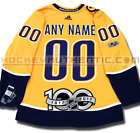 NASHVILLE PREDATORS ANY NAME  NUMBER ADIDAS HOME JERSEY AUTHENTIC PRO 100TH