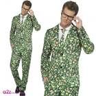 MENS BRUSSEL SPROUT CHRISTMAS NOVELTY STAND OUT SUIT ADULT FANCY DRESS COSTUME