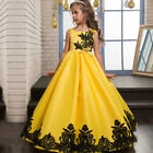 Flower Girls Kids Princess Dress for Girls Party Wedding Bridesmaid Gown O17