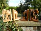 Wooden Elephant Bookends - Elephant Ornament Assorted Bookends