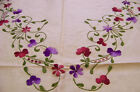 Gift Hand Embroidery Table Cloth Vintage Antique Wedding Christmas Easter Party