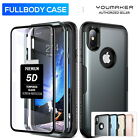 Apple iPhone X Case, YOUMAKER®  Slim HEAVY DUTY Full Body Tough Shockproof Cover