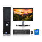 "Dell Desktop Computer PC Tower Intel Windows 10 / 7 WIFI LCD Monitor 17"" / 19"""