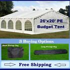 Budget PE Party Canopy - 3 Options - 20' series Tent, Long Bag, and Short Bag