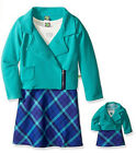 """Dollie Me Sz 7-14 and 18"""" doll matching  dress outfit clothes fit american girl"""