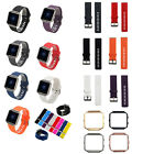 Fitbit Blaze Stainless Steel Watch Holder Metal Case Frame Rubber Watch Band