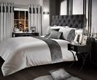 Luxury Crushed Velvet Silver Duvet Cover Set Single Double King Super King