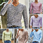 Fashion Men's Slim Fit Long Sleeve T-shirts Casual Tee Shirt Tops Pullover M-3XL