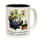 Funny Mugs - Captain Koala Coffee First Then Bullsh*t - Birthday NOVELTY MUG