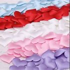 """50pcs Small Satiny Fabric Hearts 7/8"""" (22mm) Table or Bed Confetti Decorations"""