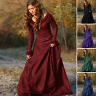Women's Vintage Medieval Dress Cosplay Costume Princess Renaissance Gothic Dress