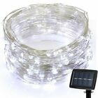 Outdoor Solar Powered 10M 33Ft 100 LED Copper Wire Light String Fairy Xmas Party