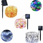 copper outdoor light - Outdoor Solar Powered 10M 33Ft 100 LED Copper Wire Light String Fairy Xmas Party