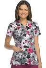 Scrubs Dickies V Neck Print Top 82978 FLCC Floral Camo Collage Free Shipping