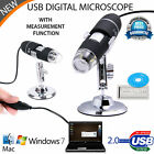 USB Microscope Endoscope 50-500X 1000X 1600X With 8LED Digital Magnifier Camera