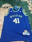Dirk Nowitzki Dallas Mavericks Hardwood Classics Blue