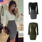 Women Office Formal Business Stretch Cocktail Party Evening Slim Pencil Dress US