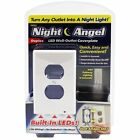 Night Angel LED Night Light Electric Outlet Cover No Wires or Batteries White