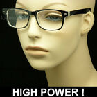 READING GLASSES EXTRA STRENGTH HIGH POWER CLEAR LENS RETRO VINTAGE NEW STRONG